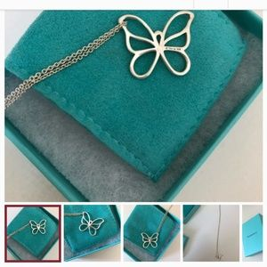 Sterling silver Tiffany and Co. Butterfly pendant